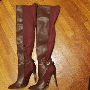 6efdca285 Ladies Bomber Jacket ladies burgundy boots NWOT ...